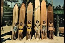 Vintage Surf / When surfing looked glamorous in a one-piece swimsuit.