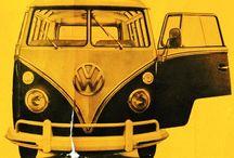 vw bus old ads / T1 bus old advertising & vintage print