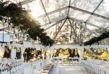 Clear Roof Marquees / Clear roof marquees create a completely fresh look. Bringing light into your wedding marquee by day and you can dance under the stars by night!