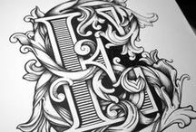 Sketchography / Typography  hand sketched text and elements.
