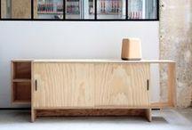 PLANCHES… WOOD WOOD PLYWOOD / Des buffets, chaises, tabourets, et autres pièces de mobilier dessinées et fabriqué par Nicolas LANNO, le tout (presque) 100% écologique et 100% made in Paris 20°