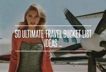 Travel Bucket List / where should i go before 40. Amen!