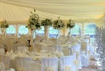 Winter Wedding Marquees / Marquees give you an amazing venue to create a winter wedding with plenty of decorative lighting they look spectacular. And if you are concerned about the cold, don't be, wooden flooring and marquee heaters will keep you toasty and warm.
