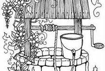 РИСУЕМ - ВЫШИВАЕМ / Рисунки для всех видов рукоделия, декупажа, ...