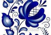"""""""ГЖЕЛЬ"""" / Самый известный крупный народный художественный керамический промысел — подмосковная гжель."""