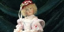 The Pampered Poupee - Huret Dress Kits / Exquisitely embroidered kits for reproduction Huret dolls.