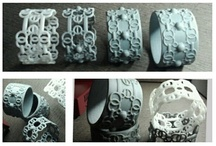 My 3d Printed Jewelry / A collection of 3d Printed Jewelry designs by Christina Chun