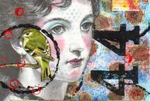 art journal, mixed media & collages