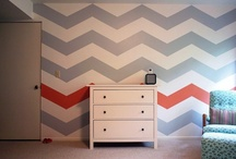 Chevrons / Who doesn't love chevrons for kids rooms?!