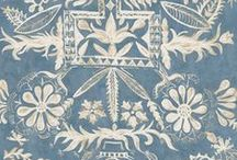 Ethnic / wallpapers and fabrics inspired both by far-flung and English culture.