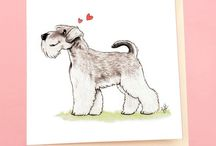 T.rü.gēr / Dogs leave footprints on our hearts - my little Schnauzer leaves muddy ones and moustache marks <3