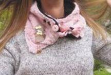 cuellos crochet / Cuellos de lana