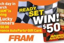Advance Contests and Giveaways! / If you like to win things, this board is for you! Check out all the great #contests and #giveaways at Advance Auto Parts!