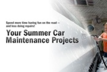 Summer Car Maintenance / Spend more time having fun on the road - and less time doing car repairs! We've made a list of the top Summer car maintenance projects for you. Just follow the list and travel on down the road, worry free!