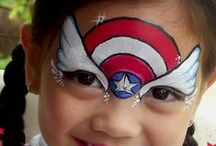 Face painting for kids / Face painting inspiration to satisfy my nieces and nephews request!