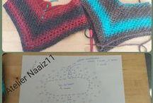 sjaals  en poncho's gehaakt door Atelier Naaiz11