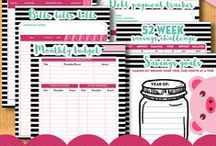 Lovely Planner Co on Etsy / Cute, geeky and happy things I have for sale in my etsy shop: Printables, party decoration, invitations, photo booth props, and more :)