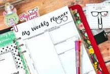 Free Planner Inserts / organization / Cute printables (mainly free) to help you be organized, planner inserts, budget planner, etc.