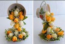filiżanki kwiatowe