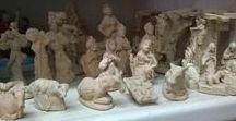 Christmas  Clay / Natività, acquasantiere e statue per presepe in terracotta Prodotti artigianali, realizzati a mano.