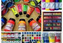 Acrylic colors - Colori acrilici / Colori acrilici Abstract SENNELIER Amsterdam TALENS Multicolor EASY Lumen, Spectra, Cyberlux e Kaleidos UCIC