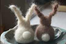 Bunny plushies & puppets