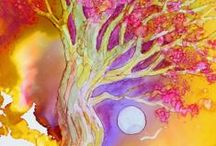 "The Wisdom of Trees / These are photos of some original tree paintings I did on Yupo paper. ""PAINTINGS INSPIRED BY THE BEAUTY TREES"". When you follow the link, each picture includes a link to my blog with more information about the piece and a button for purchasing the painting through PayPal. I hope you enjoy this series!"
