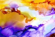Alcohol Ink Abstracts by Sandy Sandy SpiritArtist / Abstracts painted in Alcohol Inks and Mixed Media -  Many of these paintings are available as high quality prints in many sizes and variations here: http://www.sandysandyfineart.com/abstract-art.html