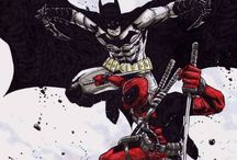 Marvel & DC mashup / Batman, Deadpool, Spider-Man, sometimes others