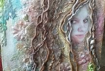 My Mixed Media / Creative Embridery / Textile Art and Design / creative embroidery mixed media collage paper art journal textile and wearable art