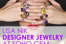 Lisa Nik / Designer jewelry specializing in beautifully cut gemstones of all shapes and colors.