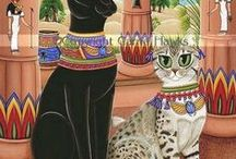 Kitties! / Now I get why ancient Egyptians were buried with their cats...   (Egyptian Maus, furr kids, tips & cat humor!)