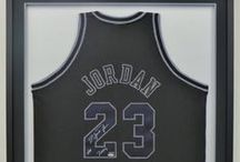 Jerseys and Memorabilia / Ideas for displaying your sports jerseys or memorabilia.