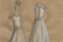 Designs / Bridal designs on paper