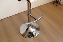 Cowhide Stools UK / Kitchen stools handmade with cowhide finish. Chrome stools on gas lift swivel base. Custom orders welcome. Shipping to the UK. Shop cowhide stools UK  http://www.barsidehide.com #cowhidestools, #cowhideproducts, #cowhidebarstools