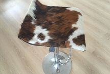 Cow skin stools / Cowhide stools handmade on Chrome, gas lift swivel base. Made with premium cowhide to suit your colour scheme. Custom orders in every colour cowhide available to buy. Orders completed in 3-5 days. Shipping worldwide. Http://www.barsidehide.com #cowhidestools, #cowhideproducts, #cowhidebarstools