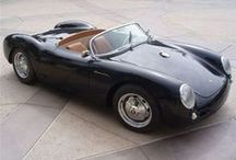 porsche 550 spyder / produced from 1953-1956 as a road and track version of the 356... / by Nolan John