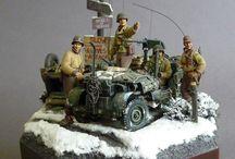 Modelismo dioramas WWII
