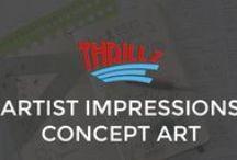 Themepark Artist Impressions / Artist Impressions / Designs from Themeparks