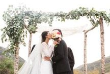 Ceremony space / Lovely flowers, details, and dresses