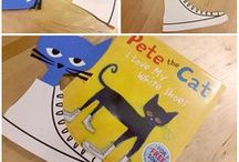 Book: Pete the Cat / A collection of crafts and activities for the picture book: Pete the Cat, written by Eric Litwin and illustrated by James Dean.