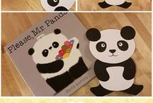 """Book: Please Mr. Panda / Activities and Crafts that can be used after reading to the little ones the picture book """"Please Mr. Panda"""" by Steve Antony. Perfect for teaching Manners."""