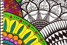 Mandala Zen drawing