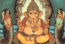 """Sri Ganesh (Ganapati) / The god of new beginnings and remover of obstacles. """"He Wears a Snake Around His Belly to Hold up his Pants, He Rides on a Mouse and He Loves to Dance. Jai Ganesh!"""""""