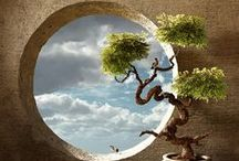 Magical Moongates & Portals / round gates, windows and entryways