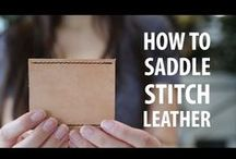 Leather Craftsmanship / What could you do with one of our Leather Scrap Kits? Here are a few ideas and a how-to ...or two. More info here: What could you do with one of our Leather Scrap Kits? Here are a few ideas and a how-to ...or two. || saddlebackleather.com/leatherscrapkit