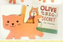 Book: Olive and the Big Secret / Cat Crafts for Olive and the Big Secret