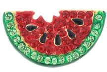 Eat Your Fruits & Veggies / Vegetables as jeweled pins
