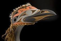 First Nations, Coast Salish: John Marston, Luke Marston & other Artists / An important young artist in the renaissance of Coast Salish art, John began carving at the age of 8. He refined his art as an adult working in Thunderbird Park @ the Royal British Columbia Museum in Victoria, B.C. where my husband & I met him in Aug of '04 as he worked on the finishing touches of a salmon carving we couldn't forget. A week after returning home to CA we called John & told him we had to have it. Today it rests on an antique Mission table in our living room.