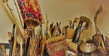 In my studio / Studio, Artist, Painting